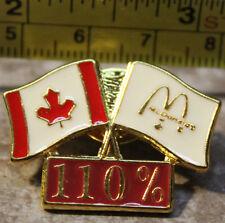McDonalds 110% Canada Flag Employee Collectible Pin Button