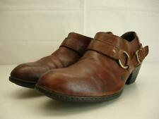 Born Womens sz 11 M Zowy brown leather ankle boots booties harness shoes western