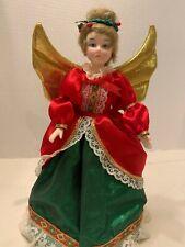 HOUSE OF HATTEN ANGEL CHRISTMAS TREE  TOPPER Vintage Doll Porcelain