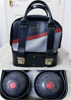 Almark CLUBMASTER Size 4 Bowls In Drakes Pride Bowling Bag Vintage Leather Look
