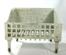 Firebox Coal Wood Grate Holder Antique White Cast Iron Fireplace Insert 1889