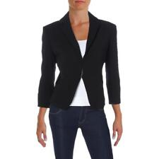 Tommy Hilfiger Black Womens Size 10 Textured Double-clasp...