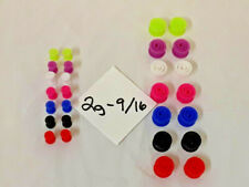 7 Pairs 7 Colors Gauges Piercing 14 New Flexible Silicone Snail Plugs