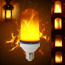 LED Flame Effect Fire Light Bulbs E27 Flickering Simulation  Xmas New Year Lamp
