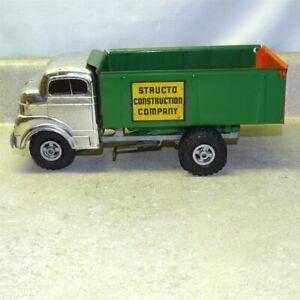 Vintage Structo Construction Company Dump Truck, Chrome Cab