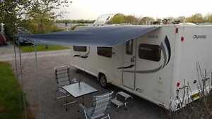Universal sun canopy awning Caravan motorhome 240cm x 300cm MED Grey WILD EARTH