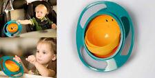 Non Spill Feeding SD Toddler Gyro Bowl 360 Rotating  Baby Avoid Food Spilling