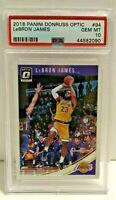LeBron James 2018-19 Panini Donruss Optic NBA Lakers #94 PSA 10 Gem Mint
