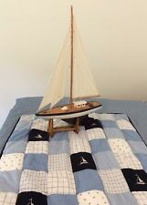 Nautica Kids Baby Comforter Crib Baby Patchwork Blanket Nautical Sailboats