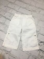 Baby Girl's Trousers Vertbaudet White Elasticated Waist Pockets 9-12 Months