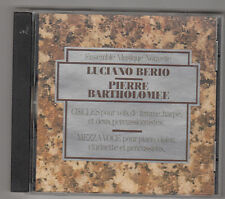 LUCIANO BERIO / PIERRE BARTHOLOMEE - circles / mezza voce CD