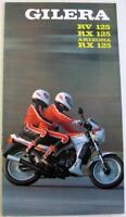 GILERA RV125 RX125 Arizona RX125 Original Motorcycle Sales Brochure Italian