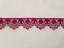 Cinta de cinta de ciruela marroquí de encaje de corte confección artesanal festoneado floral