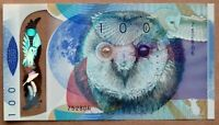 RARE - Test Note De la Rue - 100 Units - OWL GEM UNC - Polymer 2016