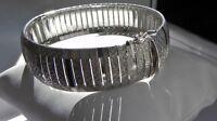 PRISTINE! 29g sterling silver 925 fully HM Italy IBB textured flexible bracelet