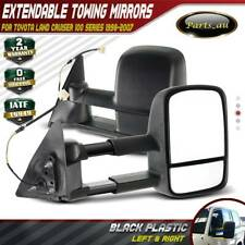 Black Extendable Towing Mirrors for Toyota Landcruiser 100 Series 98-07