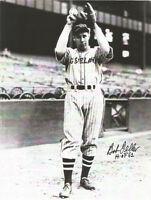 BOB FELLER Autographed Photo INDIANS HOF Pitcher comes w/COA