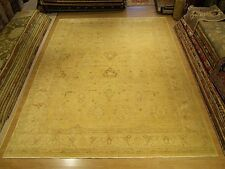 10.4 x 14 Handmade Oushak Rug Natural Vegetable Dyes Hand Spun Soft Fine Wool