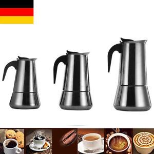 6 / 9/12 Edelstahl Kaffeemaschine Mokka Italienische Espressokocher Mokkakocher