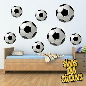12 football ball wall stickers wallpaper bedroom child Decal sport kids.