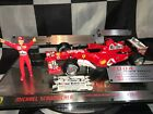 1:18 Hotwheels L6235 Michael Schumacher Ferrari F2004 Career Stats - Ltd edition