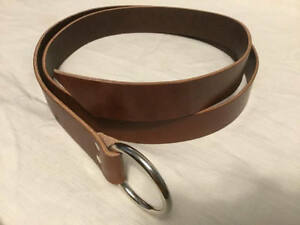 """1.5"""" Wide Brown Leather Ring Belt  SCA Cosplay LARP Pirate Faire Viking"""