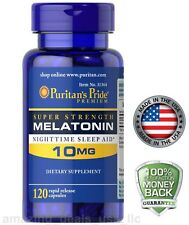 Puritan's Pride Melatonin 10 mg sleep aid 120 capsule insomnia relax sleep pill