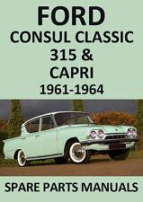 PAIR FORD CONSUL CLASSIC /& CLASSIC CAPRI 1962-1964  HEADLAMP LOOMS