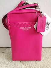 NWT Coach Legacy Leather North South Universal Case 62808 ~RARE Fuchsia!