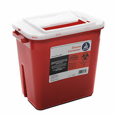 Sharps Container Red 2 Gallon Slide Lid Each