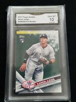 2017 AARON JUDGE RC TOPPS HOLIDAY METALLIC SNOWFLAKE SP #99 YANKEES GMA 10 HOT