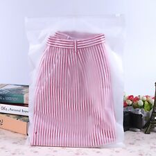 50Pcs Frosted Resealable Zip Lock Bag Plastic Bag 40x30cm
