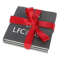Liverpool FC Untersetzer 10x10 cm Schiefer 4er Set slate coaster mit Schleife