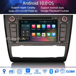Car Stereo DAB+ Android 10.0 For BMW 1 Series E81 E82 E88 DVD SWC BT Carplay 4G