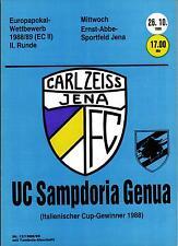 CWC EC II 88/89 FC Carl Zeiss Jena - UC Sampdoria Genua, 26.10.1988