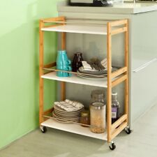 SoBuy® Wood Side Out Kitchen Trolley Cart,Drinking Serving Cart, FKW32-WN, UK
