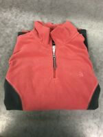 Northface Women's 1/4 zip Pull-over Soft Fleece Jacket size XS Pink And Gray