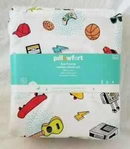 3 pc Pillowfort Fun Frenzy Twin Sheet Set NIP