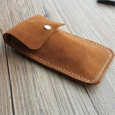 Travel Watch Pouch Case Mini Bag Vintage Retro Unisex Soft Genuine Leather