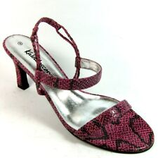 Kaleidoscope Womens ladies Pink Leather Snake Sandals Shoes Size 7 EU 40
