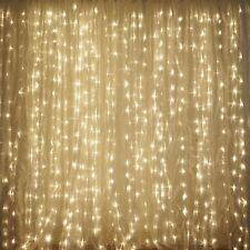 600 Sequential Warm White LED Light Organza Curtain Backdrop Decor - 20FTx10FT