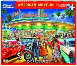 American Drive-In 1000 piece jigsaw puzzle 760mm x 610mm (wmp)