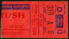 Rare Vintage Rush Rock Music Concert Ticket Stub Dec 3 1982 Geddy Lee Neil Peart