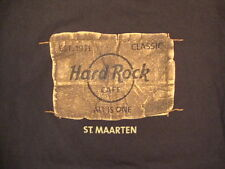 "Hard Rock Cafe St. Maarten ""All is One"" Souvenir Music History Brown T Shirt M"