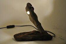 lampada abat-jour artigianale legno e led
