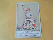 Rare 1880s Postcard Size H804-4 Baseball Card Capadura Cigar Ad Uniform Players