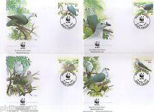 Tokelau 1995 WWF Pacific Imperial Pigeon Bird Wildlife Animal Sc 204-7 Set 4 FDC