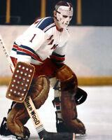 New York Rangers EDDIE GIACOMIN Glossy 8x10 Hockey Photo Print Poster HOF 87