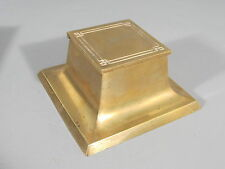 Arts & Crafts Style Bradley and Hubbard Brass Inkwell / FREE Shipping