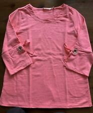 SOFT SURROUNDINGS Sweatshirt Tunic top shirt Large Pink